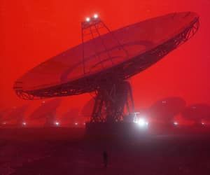 glow, red, and sci-fi image