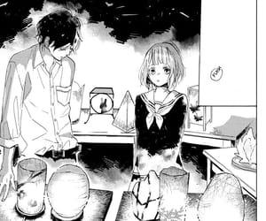 manga, love, and monochrome image