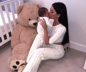 baby and teddy bear image
