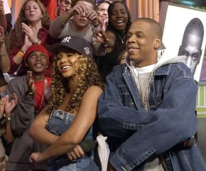 jay z, early 2000s, and beyoncé image