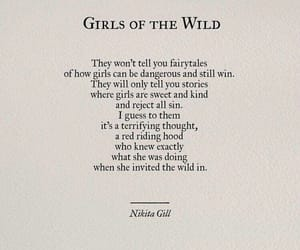 nikita gill, girl, and quotes image