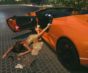 car, luxury, and orange image