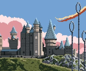 8bit, clouds, and harry potter image