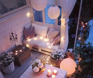 balcony, candles, and design image