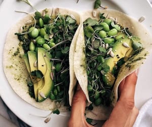 greens, healthy, and tacos image