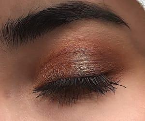 eye, eyeshadow, and gold image