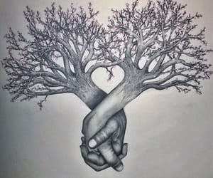 art, pencil, and tree image