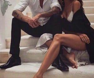 couple, hug, and tattoo image