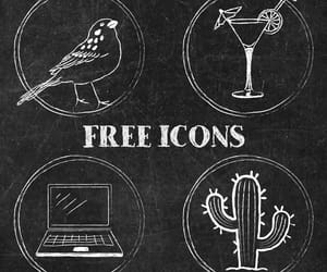 icons, chalkboard art, and instagram image