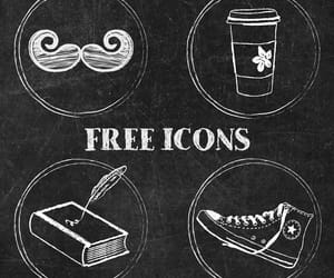 converse, icons, and mustache image