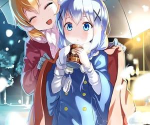 anime, coffee, and snow image
