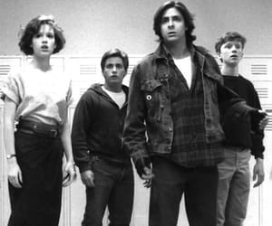 80s, The Breakfast Club, and black and white image