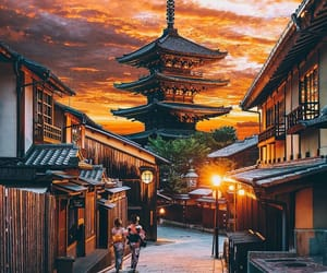 japan and sunset image