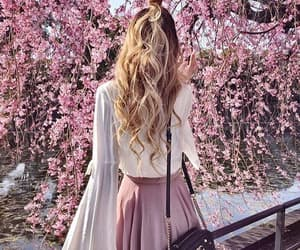 fashion, pink, and spring image