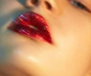 glitter, lips, and red image