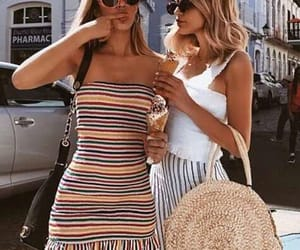 girl, best friends, and fashion image