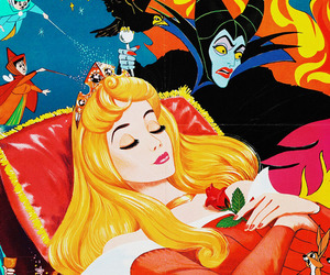 sleeping beauty, disney, and princess image