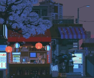 gif, pixel, and japan image