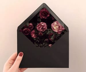 flowers, black, and aesthetic image