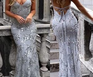 beautiful prom dresses, evening dress lace, and evening dress mermaid image