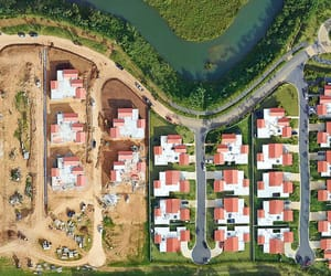 aerial photography, housing, and puerto rico image