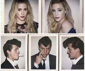 couple, polaroid, and cole sprouse image