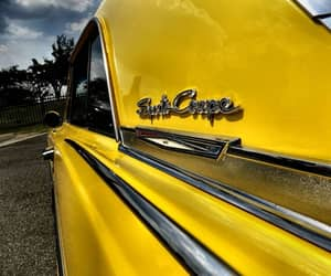 cars, yellow, and vintage image