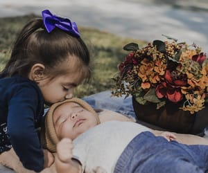 baby, fall, and SIBLING image