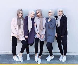 hijab, fashion, and girls image