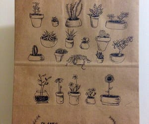 plants, brown, and beige image