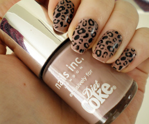 nails, leopard, and brown image