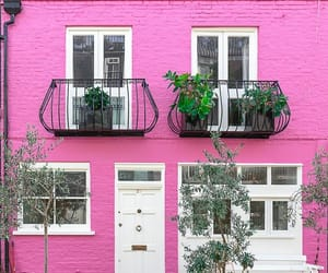 facade, house, and pink image