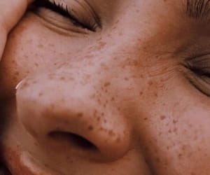 freckles, girl, and aesthetic image