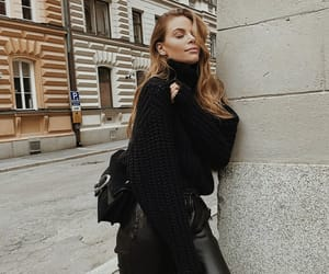 autumn, black, and fashion image
