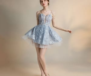 beading, girl, and party dress image