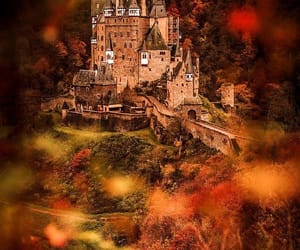 autumn, castle, and colorful image