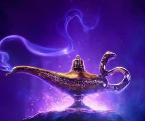 aladdin, disney, and genie image