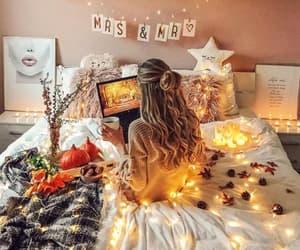 girl, beauty, and home image