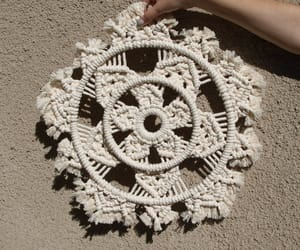 etsy, macrame wall hanging, and round wall hanging image