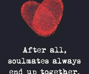 couple, soulmate, and together image