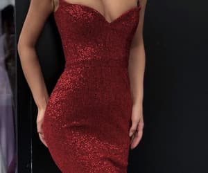style, red prom dress, and fashion goals image