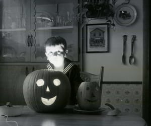 black and white, creepy, and Halloween image