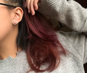 autumn, grey, and red hair image