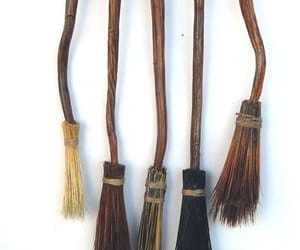 brooms, Halloween, and harry potter image
