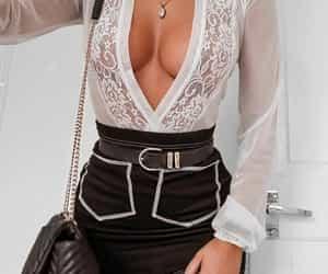fashion, handbag, and shirt image