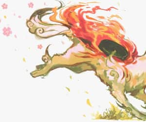 fire, fox, and kitsune image