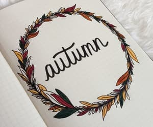 autumn, colours, and planner image