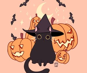 cats, Halloween, and kittie image