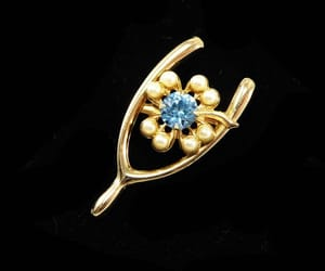 etsy, gold tone, and vintage 1950s 1960s image