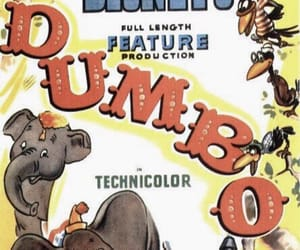 disney, dumbo, and movie poster image
